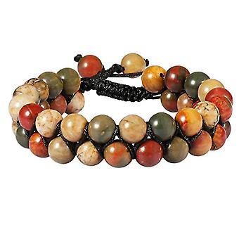 KYEYGWO Bracelet for men and women, 8 mm of Chakra energy with adjustable crystal beads, for yoga pairs, Ref bracelet. 0715444107474