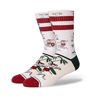 Holdning Santas Day Off Crew Sokker i hvid