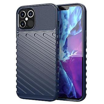 Étui en fibre de carbone Tpu pour iphone 12 pro max bleu mfkj-2068