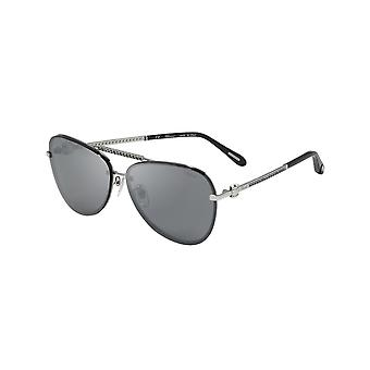 Chopard SCHF10S 579X Total Palladium/Smoke Mirror Silver Sunglasses