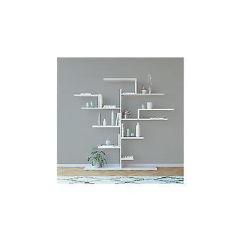 Boom Witte Bibliotheek, in Melamine Spaanplaat L175xP25xA161 cm
