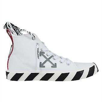 Kapalı Beyaz Vulkanize Orta Üst Tuval Beyaz Spor Ayakkabı