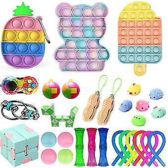 30st Fidget Toys Kit lindrar stresssensorisk