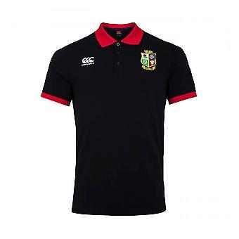 Canterbury British & Irish Lions 2021 Home Nations Heren Polo Shirt Zwart