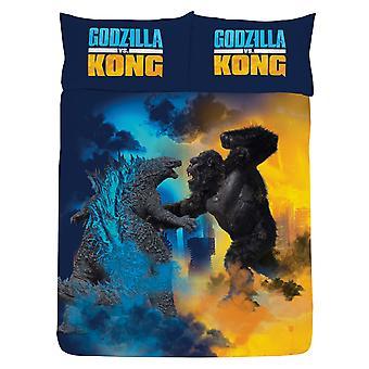 Godzilla Vs Kong Tweepersoons Dekbedovertrek en Kussensloop Set