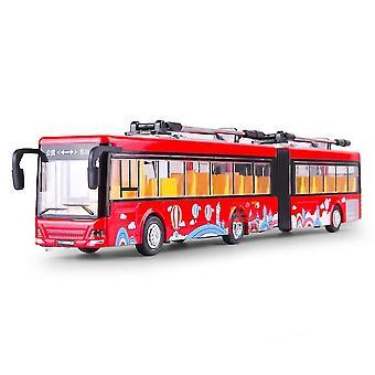 الاطفال هدايا للعبة لمحاكاة مزدوجة حافلة السيارات الكهربائية المعدنية سبيكة سيارة موديل ES11421