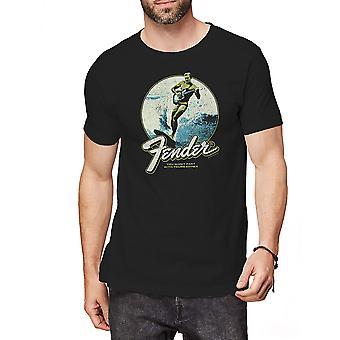 Fender - Surfer Men's Large T-Shirt - Black