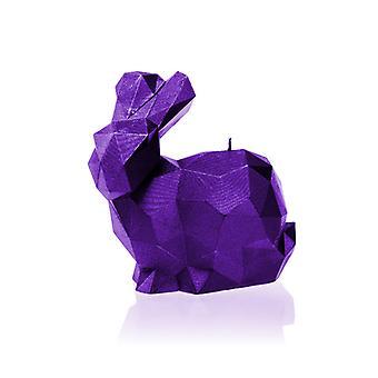 Violetti metallinen suuri kani kynttilä