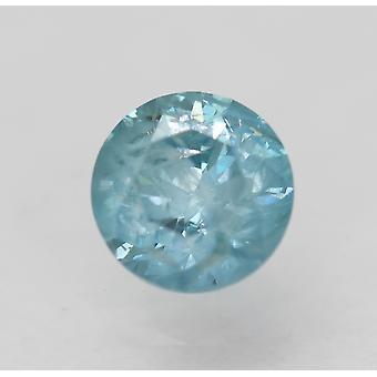Cert 0,60 Karat Himmel blau Runde brillante verbesserte natürliche Diamant 5,17 mm 3VG