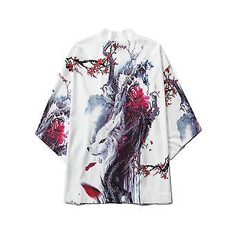 Dragon Print Yukata Vestiti Donne, Vestiti