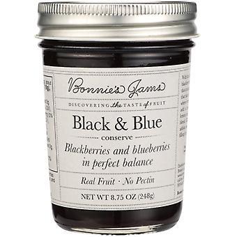 Bonnies Jams Jam Black And Blue, Case of 6 X 8.75 Oz