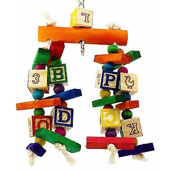 Parrot Bird Bite Speelgoed Kleurrijke Bouwsteen Bite String