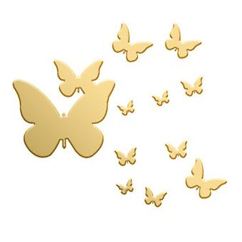 Mirror Butterfly Wall Sticker Self-adhesive 1mm Butterfly Acrylic Wall Sticker