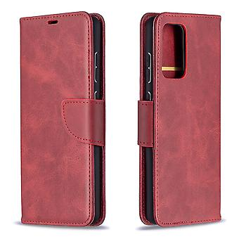 Case Samsung Galaxy A72 5g/4g Leather Cover Folio Wallet Red