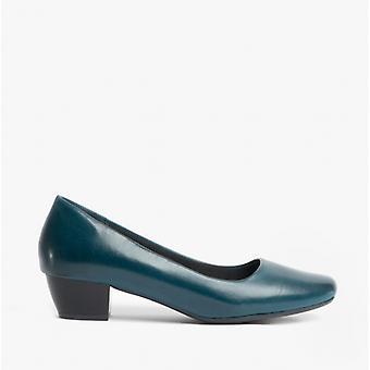 Boulevard Maria Ladies Low Block Heel Court Shoes Navy