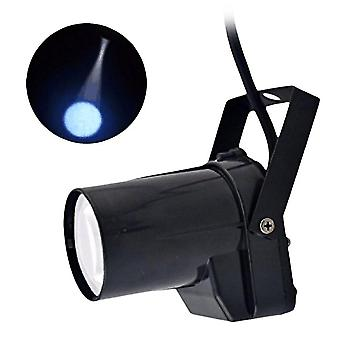 3w Led Spotlight Spin Stage Lighting Party Show Light Mount Effect Pinspot