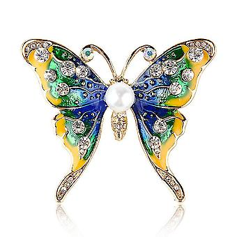 Elegant Ladies Brooch Butterfly Corsage Diamond Inlaid Scarf Clip Jewelry Brooch Pin