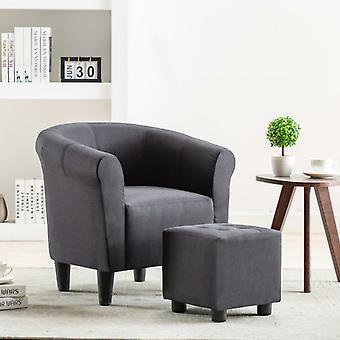 vidaXL كرسي النسيج الأسود