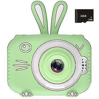 Mini children's digital camera, 1080P children's sports camera(Green)