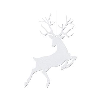 10 Reindeer White Shimmer Card Gift Tags for Christmas Wrapping