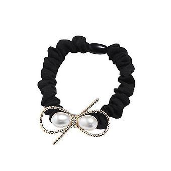 3PCS Nueva moda senior perla lazo de pelo anillo de banda elástica accesorios de pelo INS mujeres