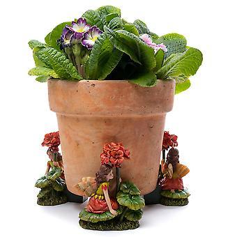 Potty Feet Flower Fairies Geranium Fairy Plant Pot Feet Multicolor 3pc