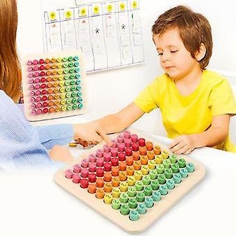 Matemáticas 9x9 Tabla de multiplicar Tabla de matemáticas Juguete de madera Aprendizaje Juguetes digitales para niños 