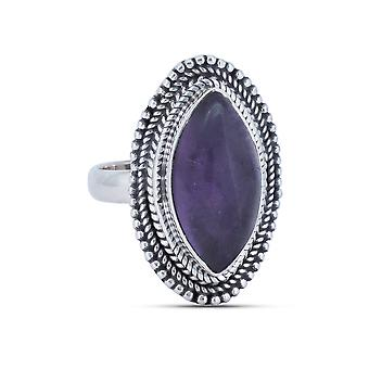 Ring Zilver 925 Sterling Zilver Amethist Purple Stone (Nr: MRI 150)