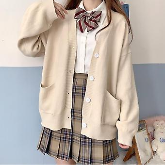 Japonais Loli col V Jk Uniformes Mignon Sweet Sweater Vestes