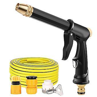 Pistolet de pulvérisation de tuyau d'arrosage Rétractable Pistolet à eau de lavage à haute pression domestique (25m)