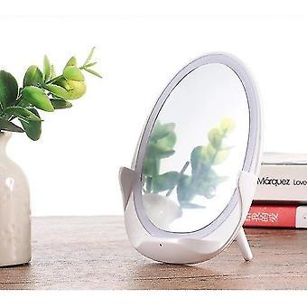 Nuovo specchio per il trucco a led di ricarica senza wreless con supporto leggero per il telefono cellularedezione di ricarica senza fili