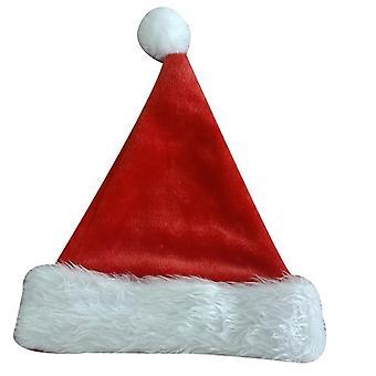 Christmas Hats Unisex Soft Plush Red Santa Claus Party Supplies