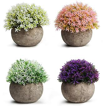 Piante verdi artificiali Retro Erba semicircolare Pianta Bonsai Decorazione fiori in vaso finti ornamenti (4 (bambino Lacrime-bianco Verde * Baby Tears-pi