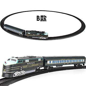 elektrisk jernbane bil liten tog spor leketøy sett