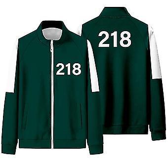 Squid Competition Jacket Male Li Zhengjae Same Sportswear Plus Size 218 National Tide Autumn Sweater