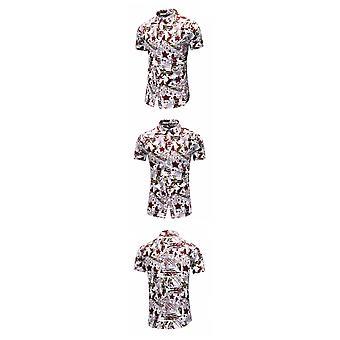 Camicia estiva nuova da uomo a maniche corte Casual Dimagrimento Plus Size Camicia floreale hawaiana