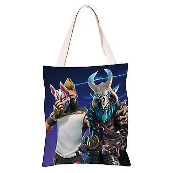 الكرتون أنيمي قماش حقيبة التسوق Totes، فورتنيت #5