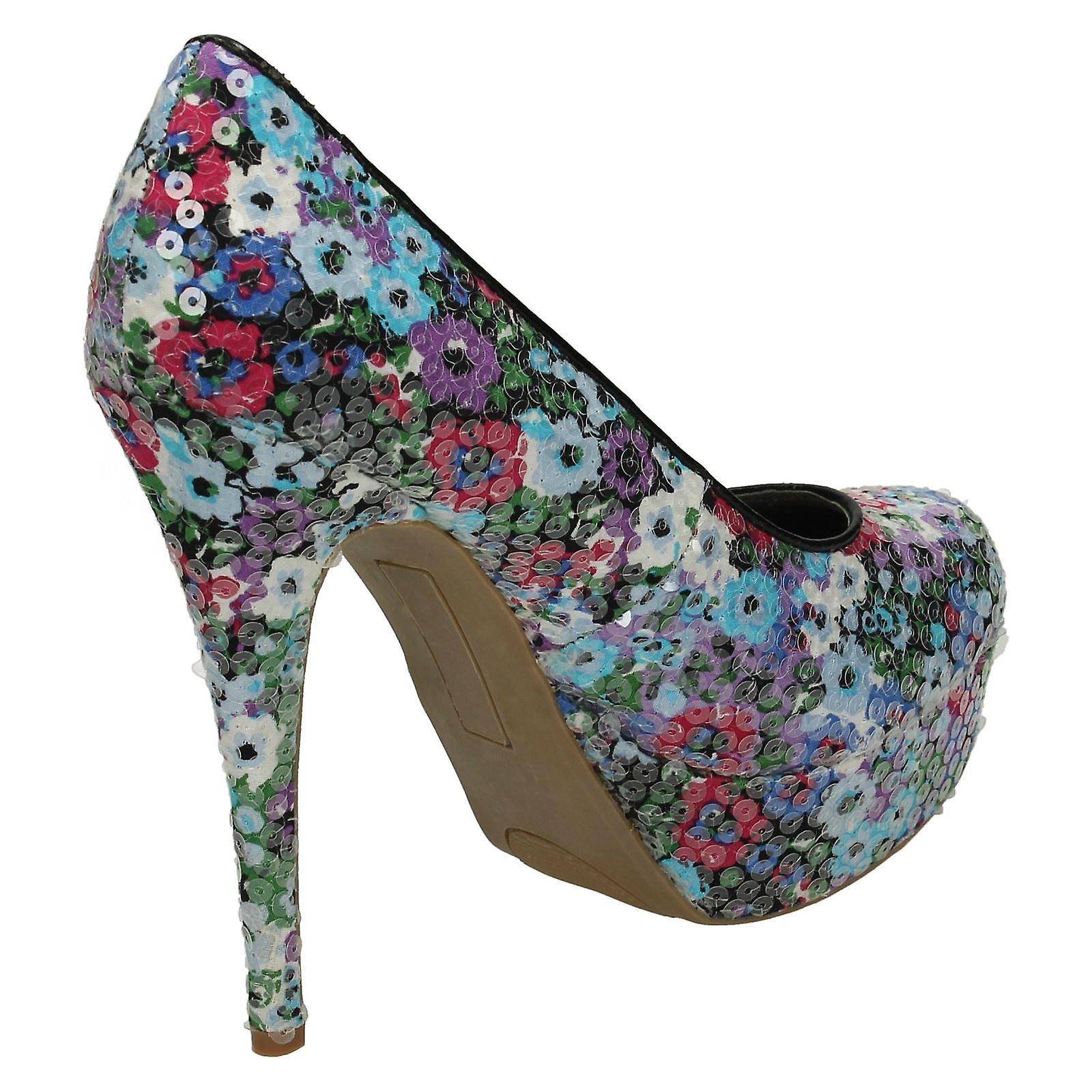 Ladies Spot On Platform Stilletto Shoe - F9511