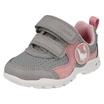 Infant Girls Clarks First Trainers with Flashing Lights Brite Wizz