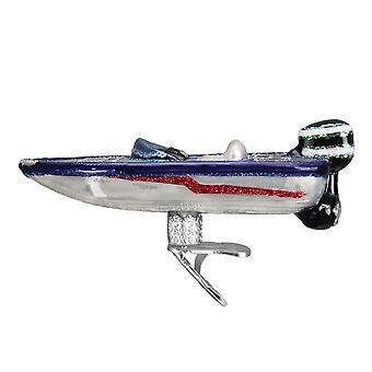 Vanhan maailman joulu basso veneen Holiday leikkeen koriste lasia