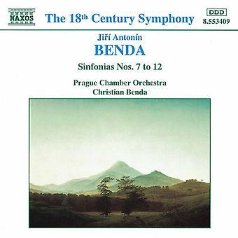 J.G. Benda - Benda: Sinfonias Nos. 7 to 12 [CD] USA import