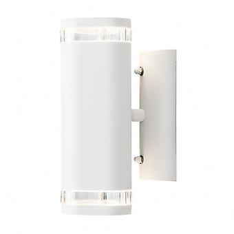 Konstsmide Modena 2 Way Cylinder Wall Light White