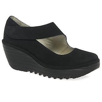 Fly London Yasi Womens Casual Wedge Heel Shoes