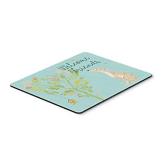 Welcome Friends Brindle Greyhound Mouse Pad, Hot Pad or Trivet