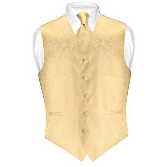 Herren Paisley Design Kleid Weste & Krawatte Hals Krawatte Set für Anzug Tux