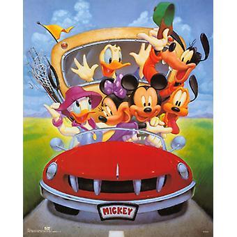Mickey & venner går fiske Poster trykk av Walt Disney (16 x 20)