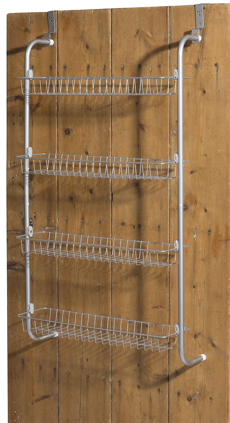 4 Tier Over Door Hanging Rack / Shelves For Pantry Or Storage Cupboard