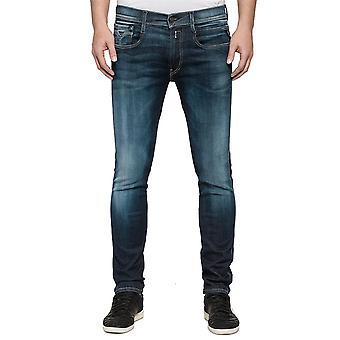 Replay Jeans Anbass Hyperflex Slim Fit M91400066102D universal alle år menn bukser