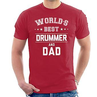 Miglior batterista e papà maschile mondi, t-shirt