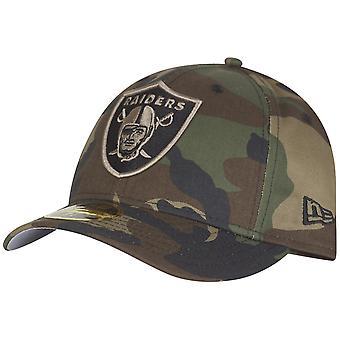 Ny era 59Fifty låg profil Cap - Oakland Raiders trä camo